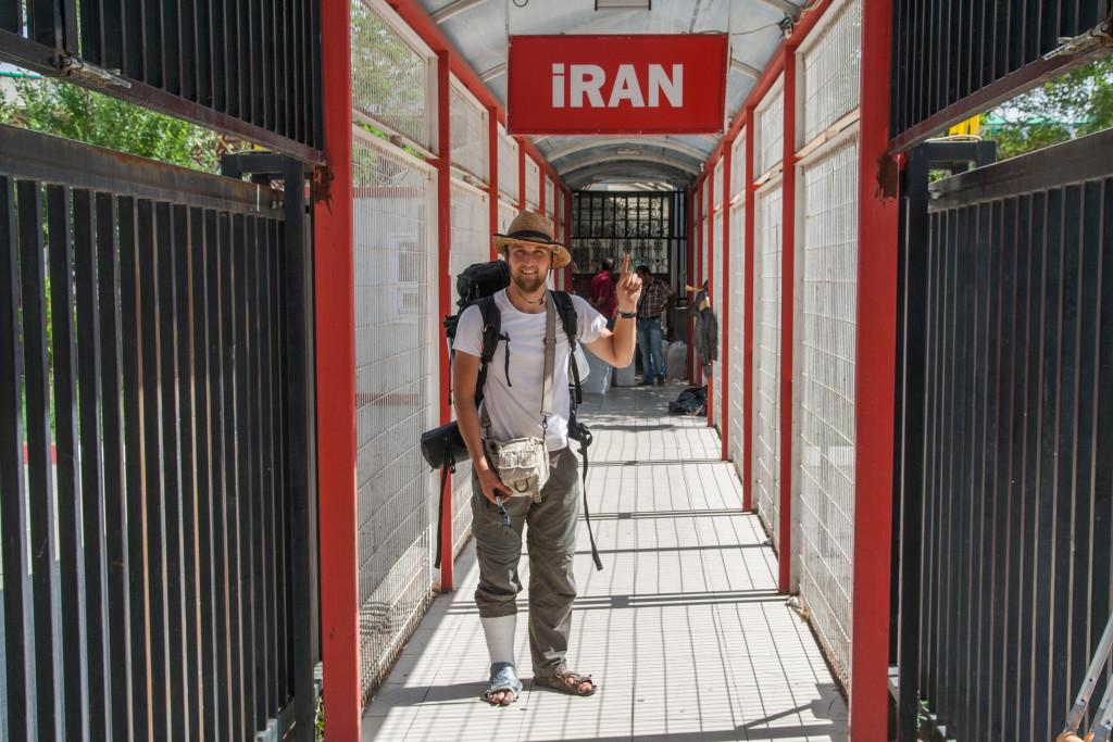 autostopem do iranu