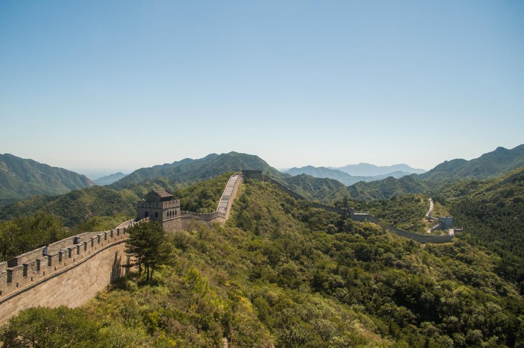 mur chiński autostopem